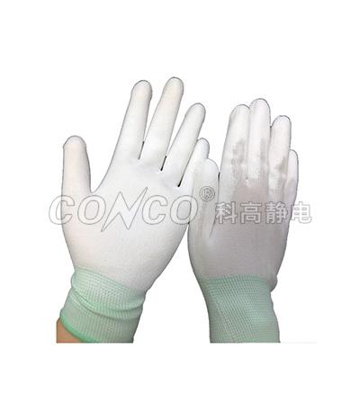 防静电放电聚氨酯指尖涂层手套